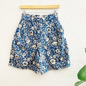Talbots Vintage High Rise Floral Shorts Size 6